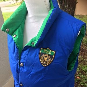 POLO Ralph Lauren women's M reversible down vest